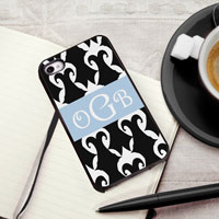 Personalized iPhone Case (Damask with Black Trim) (GC974)
