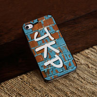 Personalized iPhone Case (Graffiti with Black Trim) (GC974)