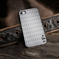 Personalized iPhone Case (Guys Steel with Black Trim) (GC974)
