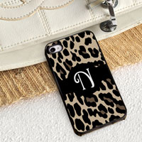 Personalized iPhone Case (Leopard with Black Trim) (GC974)
