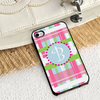 Personalized iPhone Case (Plaid with Black Trim) (GC974)