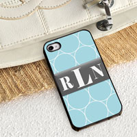 Personalized iPhone Case (Rings with Black Trim) (GC974)