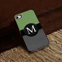 Personalized iPhone Case (Tweed with Black Trim) (GC974)
