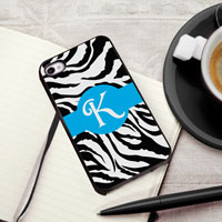 Personalized iPhone Case (Zebra with Black Trim) (GC974)