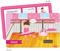 Spark & Spark Laminated Placemats - Ballerina Studio (Brunette Girl) (03-PL-1400-2-02)