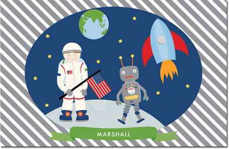 Whitney English Personalized Disposable Placemats - Imagination Astronaut (W24063DP)