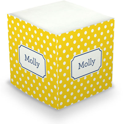 Boatman Geller - Create-Your-Own Sticky Memo Cubes (Polka Dot)