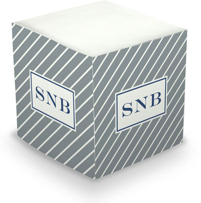 Boatman Geller - Create-Your-Own Sticky Memo Cubes (Kent Stripe)