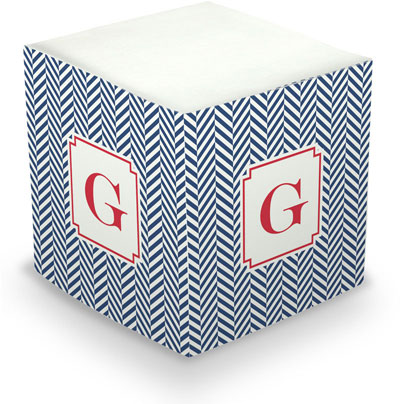 Boatman Geller - Create-Your-Own Sticky Memo Cubes (Herringbone)