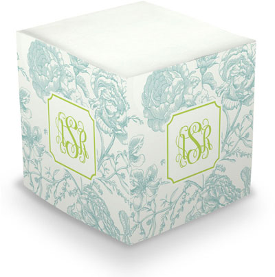 Boatman Geller - Create-Your-Own Sticky Memo Cubes (Floral Toile)