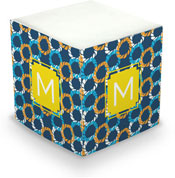 Dabney Lee Personalized Sticky Note Cubes - Nautical Knots