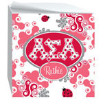 Devora Designs - Sticky Note Cubes (Alpha Sigma Alpha - Swirl Dots) ASA