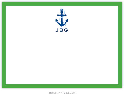 Boatman Geller - Custom Personalized Stationery (Icon with Border - Flat Card) (107+C015+B09)
