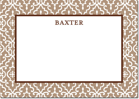 Boatman Geller - Create-Your-Own Personalized Stationery (Wrought Iron - Lg. Flat Card)
