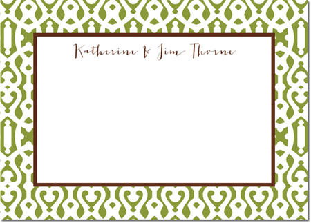 Boatman Geller - Create-Your-Own Personalized Stationery (Cameron - Lg. Flat Card)