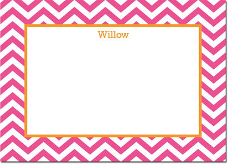 Boatman Geller - Create-Your-Own Personalized Stationery (Chevron - Lg. Flat Card)
