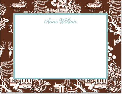 Boatman Geller - Create-Your-Own Personalized Stationery (Chinoiserie - Sm. Flat Card)