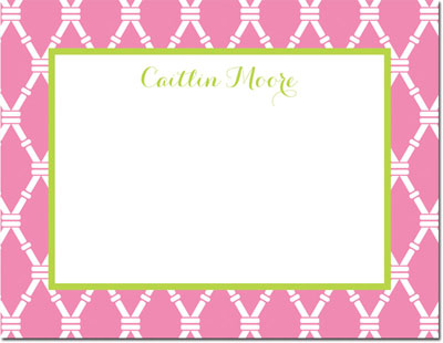 Boatman Geller - Create-Your-Own Personalized Stationery (Bamboo - Sm. Flat Card)