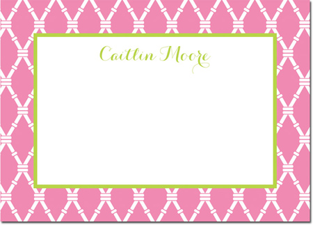 Boatman Geller - Create-Your-Own Personalized Stationery (Bamboo - Lg. Flat Card)