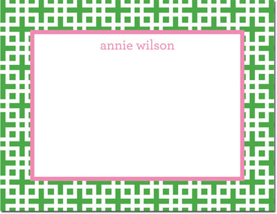 Boatman Geller - Create-Your-Own Personalized Stationery (Lattice - Sm. Flat Card)