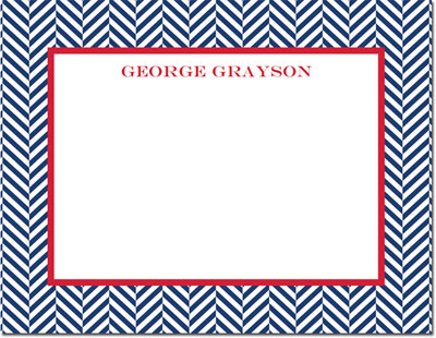 Boatman Geller - Create-Your-Own Personalized Stationery (Herringbone - Sm. Flat Card)