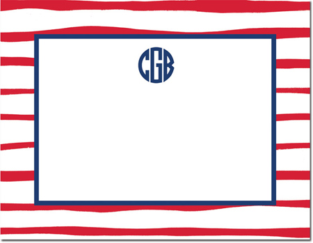 Boatman Geller - Create-Your-Own Personalized Stationery (Brush Stripe - Sm. Flat Card)