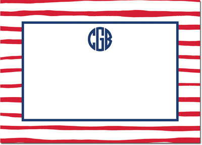 Boatman Geller - Create-Your-Own Personalized Stationery (Brush Stripe - Lg. Flat Card)