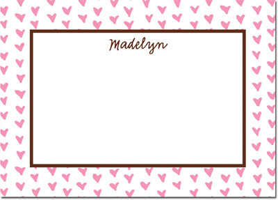 Boatman Geller - Create-Your-Own Personalized Stationery (Amor - Lg. Flat Card)