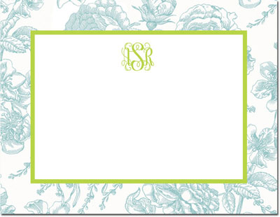 Boatman Geller - Create-Your-Own Personalized Stationery (Floral Toile - Sm. Flat Card)