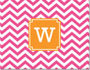 Boatman Geller - Create-Your-Own Personalized Stationery (Chevron - Folded Note)