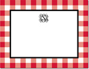 Boatman Geller - Create-Your-Own Personalized Stationery (Classic Check - Sm. Flat Card)