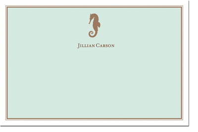 Boatman Geller Stationery - Seahorse (#18711)