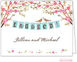 Bonnie Marcus Personalized Stationery/Thank You Notes - Engaged Banner