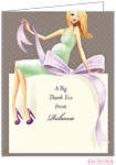 Bonnie Marcus Personalized Stationery/Thank You Notes - Expecting A Big Gift (Green/Blonde)