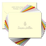 Classic Impressions Embossed Personalized Stationery - Create-Your-Own Correspondence Note (WRT206)