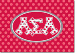 Sorority Folded Notes - Alpha Sigma Alpha Greek Dots (ASA)
