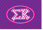 Sorority Folded Notes - Sigma Kappa Greek Dots (SK)