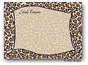 Dinky Designs Flat Note Stationery - Border Of Leopard