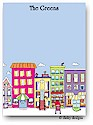 Dinky Designs Flat Note Stationery - City Sidewalks