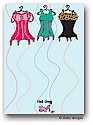 Dinky Designs Flat Note Stationery - Corset Line
