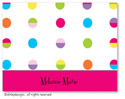 Dinky Designs Foldover Notes - Hot Dots White