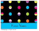 Dinky Designs Foldover Notes - Hot Dots Black