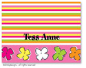 Dinky Designs Foldover Notes - Posie paradise