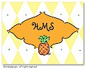 Dinky Designs Foldover Notes - Pineapple Argyle (NCV-022P-SP)