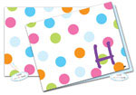 Dinky Designs Foldover Notes - Bubble Gum Dots (NC-806B)