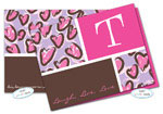 Dinky Designs Foldover Notes - Pink + Purple Leopard (NC-870P)