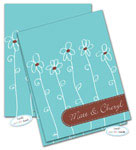 Dinky Designs Foldover Notes - Aqua Blue Daisies (NC-912A)