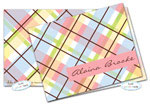 Dinky Designs Foldover Notes - Lizzie Plaid (NC-913L)