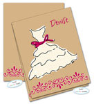 Dinky Designs Foldover Notes - Bridesmaid/Bridesmaid...Bride! (NC-918B)