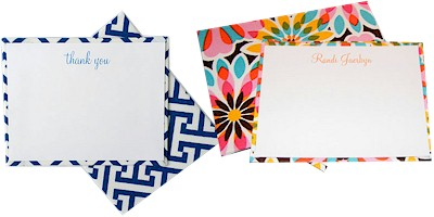 Fabric-Backed Stationery by HB Designs